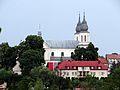 Słomniki - widok na kościół Bożego Ciała ze stacji Słomniki-Miasto.jpg