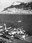 S2F-1 Tracker of VS-39 on USS Leyte (CVS-32) off Gibraltar in November 1957.jpg
