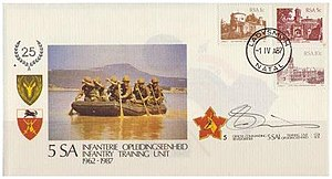5 South African Infantry Battalion - SADF 5 SAI Commemorative letter