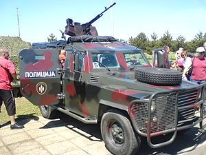 Special Anti-Terrorist Unit (Serbia) - Image: SAJ Land Rover
