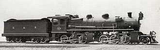 South African type LP tender - Type LP tender on SAR Class MJ1, c. 1920