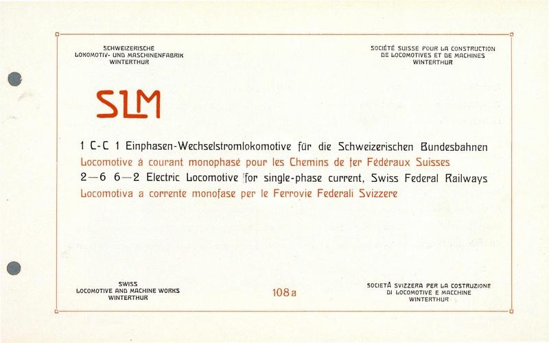 Datei:SBB Historic - 108a - 1 C-C 1 Einphasen-Wechselstrom ...