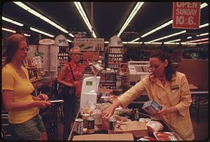 SHOPPING FOR GROCERIES IN A WASHINGTON, DISTRI...