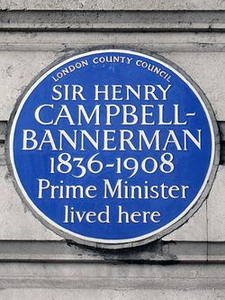 Sir henry campbell bannerman 1836 1908 prime minister lived here