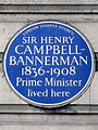 SIR HENRY CAMPBELL-BANNERMAN 1836-1908 Prime Minister lived here.jpg