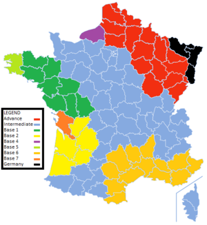 Services of Supply, American Expeditionary Forces - Sections of the SOS in France