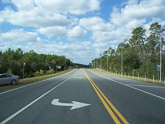 Ocala National Forest - Intersection of State Roads 19 and 40
