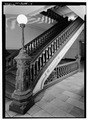 STAIRWAY, WEST WING, 2nd FLOOR - New York County Courthouse, 52 Chambers Street, New York, New York County, NY HABS NY,31-NEYO,116-9.tif
