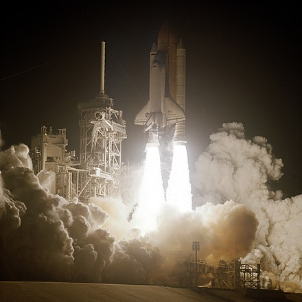 Space Shuttle Columbia launches on STS-109(HST-3B), its final successful mission STS-109 launch.jpg