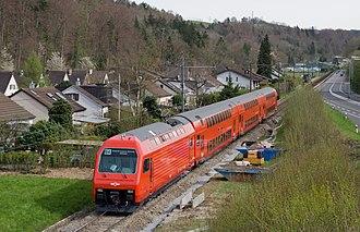 Sihltal Zürich Uetliberg Bahn - Re 456 in the Sihl valley (Sihltalbahn).