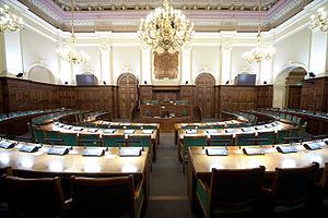 Saeima - Image: Saeimas sēžu zāle