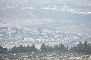 Saffa, Ramallah - Saffa in the front,  Deir Qaddis behind