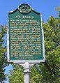 Saint Paul's Episcopal Church Historical Marker Brighton Michigan.JPG