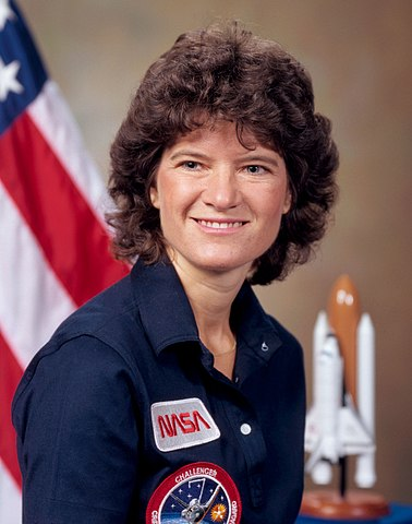 Astronaut Sally Ride, NASA photo (10 July 1984)Source: Wikipedia (www.jsc.nasa.gov page unavailable May 2019) 378px-Sally_Ride_in_1984.jpg