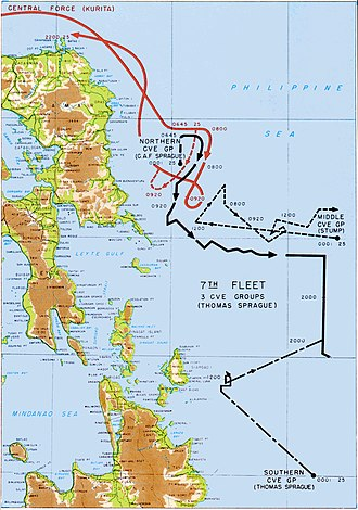 Battle off Samar - Movements during the battle.