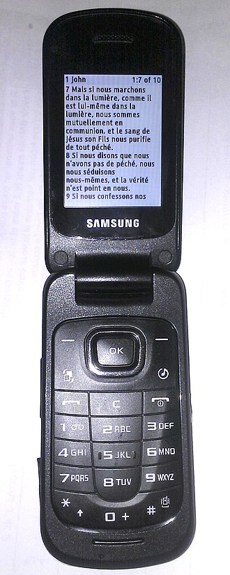 Solo Mobile - The Samsung C414 is a basic flip feature phone available to grandfathered Solo Mobile customers.