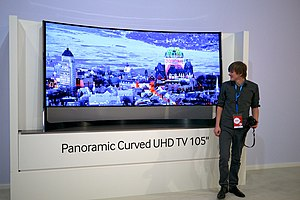 4K resolution - Samsung UN105S9 105 inch ultra-high-definition 4K television