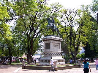 La Rioja, Argentina - Monument to José de San Martín, in the Plaza 25 de Mayo.