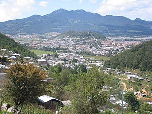 San Cristóbal de las Casas - View of the city from the surrounding hillsides.