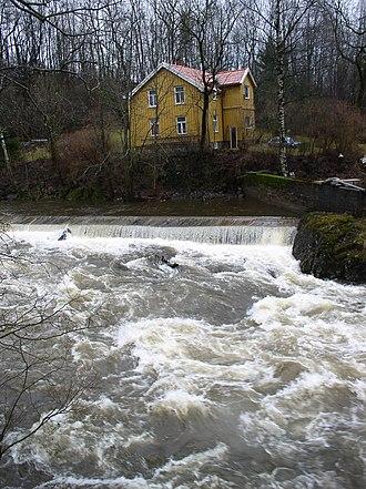 Sandvikselva - Sandvikselva at Olsens Sykkelverksted