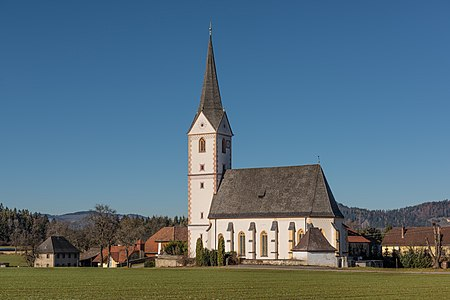 Parish church Saint Sebastian in Sankt Sebastian #15, Sankt Georgen am Längsee, Carinthia, Austria