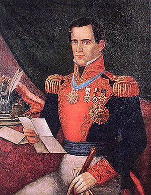 Dictatorship -  Antonio López de Santa Anna wearing Mexican military uniforms