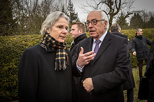 Susanne Wasum-Rainer - Susanne Wasum-Rainer with Israel's ambassador to France Yossi Gal in Sarre-Union, February 2015.