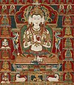 Sarvavid Vairochana, From a Set of the Five Jina Buddhas, based on Complete Purification of All Evil Rebirths (Sarva Durgati Parishodana Tantra) LACMA AC1994.121.1 (cropped).jpg
