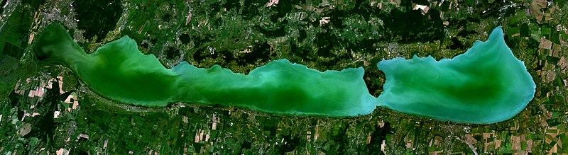 A Balaton műholdképe