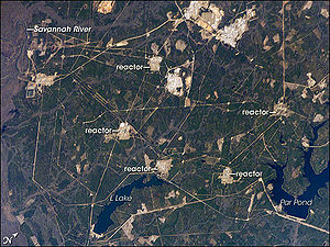 Savannah River Site - The Savannah River Site viewed from the International Space Station.