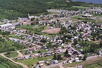 Sayabec - Aerial view of Sayabec