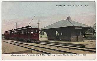 Atlantic City and Shore Railroad - Image: Scene along Atlantic City and Shore Railroad, between Atlantic City and Ocean City Northfield Golf Links