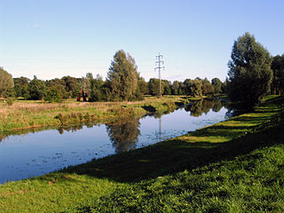 Vechte River in Germany and the Netherlands