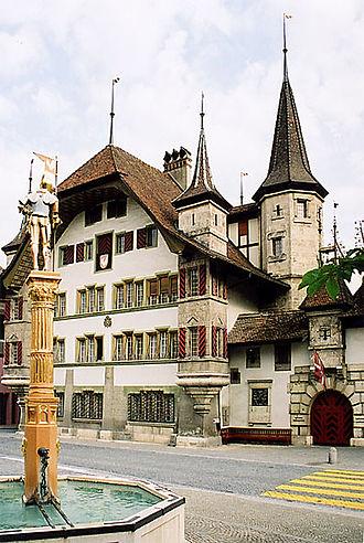 Büren an der Aare - Büren Castle, built as the official residence of the Bernese bailiff.