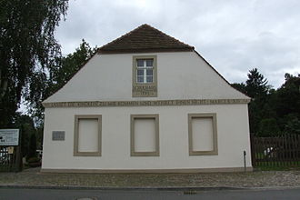 One-room school - The one-room school in Reckahn, Brandenburg an der Havel, was founded 1773 and quotes Mark 10:14 at the entrance. It is now used as a local history museum.