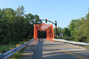 Scio Township, Michigan - Delhi Bridge, Delhi Rd., built by the Wrought Iron Bridge Company