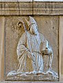 Scola degli Albanesi rilievo vescovo facciata Venezia.jpg