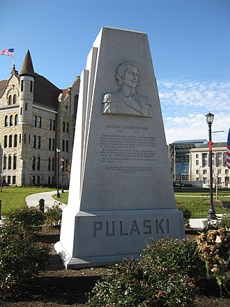 Lackawanna County Courthouse and John Mitchell Monument - Image: Scranton, Pennsylvania (4111290499)