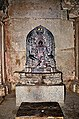 Sculpture of Yaksha Dharanendra at Akkana Basadi in Shravanabelagola.jpg
