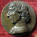 Scuola fiorentina del 1480-1510 ca, medaglia di giovanni gaddi.JPG