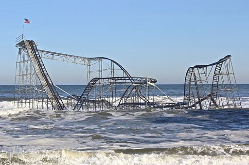 Seaside Heights, New Jersey after Sandy