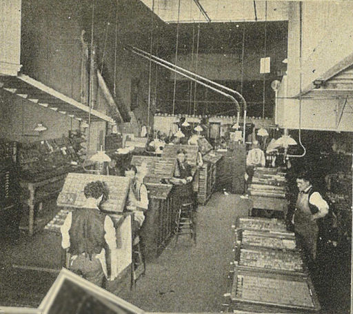 Seattle Daily Times composing room 01 - 1900