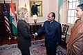 Secretary Clinton Shakes Hands With Indian Defense Minister A.K. Antony and Indian Ambassador Shankor (5035463030).jpg