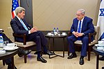 Secretary Kerry, Israeli Prime Minister Netanyahu Sit Together Before Bilateral Meeting on Sidelines of World Economic Forum in Switzerland (23891065273).jpg