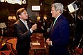 Secretary Kerry Speaks With American Actor Leonardo DiCaprio in Paris After Being Interviewed for an Environmental Documentary the Actor is Making (23222375109).jpg