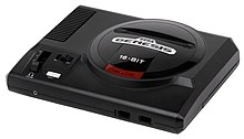 A photo of a model 1 Sega Genesis console