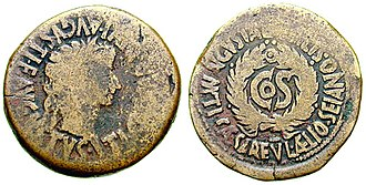 Sejanus - Roman As depicting Tiberius, struck in 31, Augusta Bilbilis. The reverse reads Augusta Bilbilis Ti(berius) Caesar L(ucio) Aelio Seiano, marking the consulship of Sejanus in that year.