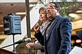 Senator Tina Smith and Representative Keith Ellison at an event in support of DACA at Hennepin County Government Center Minneapolis, MN (39533297962).jpg