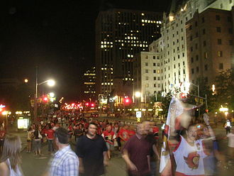 2007 Stanley Cup Finals - Elgin Street after the Senators game three win.