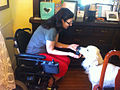 Service dog and handler in wheelchair.jpg
